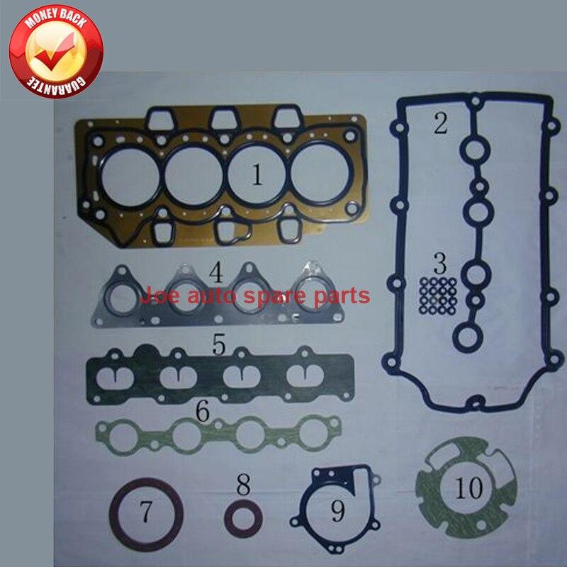 Полный комплект прокладок двигателя SQR473F 473H для Chery A1 EGO FACE J1 KIMO QQ6 QQM M1 S18 1.3L 473H-10000A10A 473H10000A10A