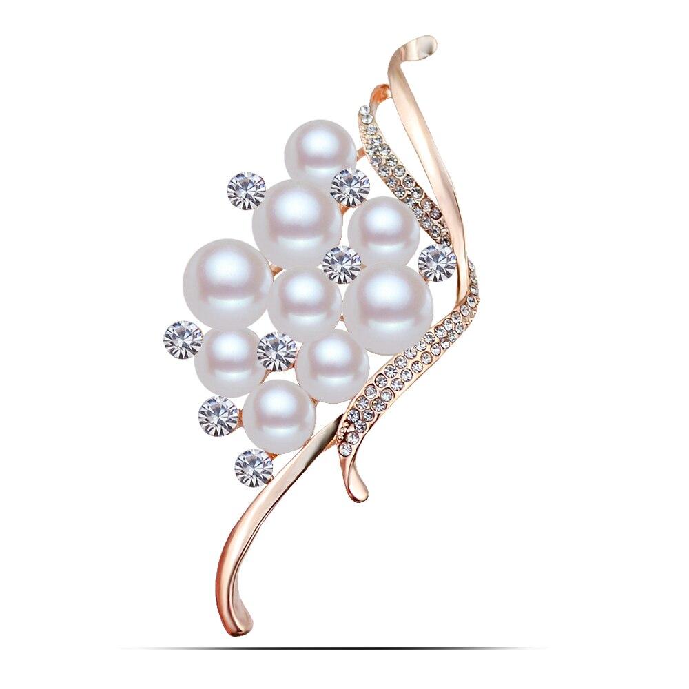 B265 жемчужные броши для женщин, зажимы для шарфов золотистого и серебристого цвета, ювелирные изделия, булавки со стразами и броши, роскошный женский отворот