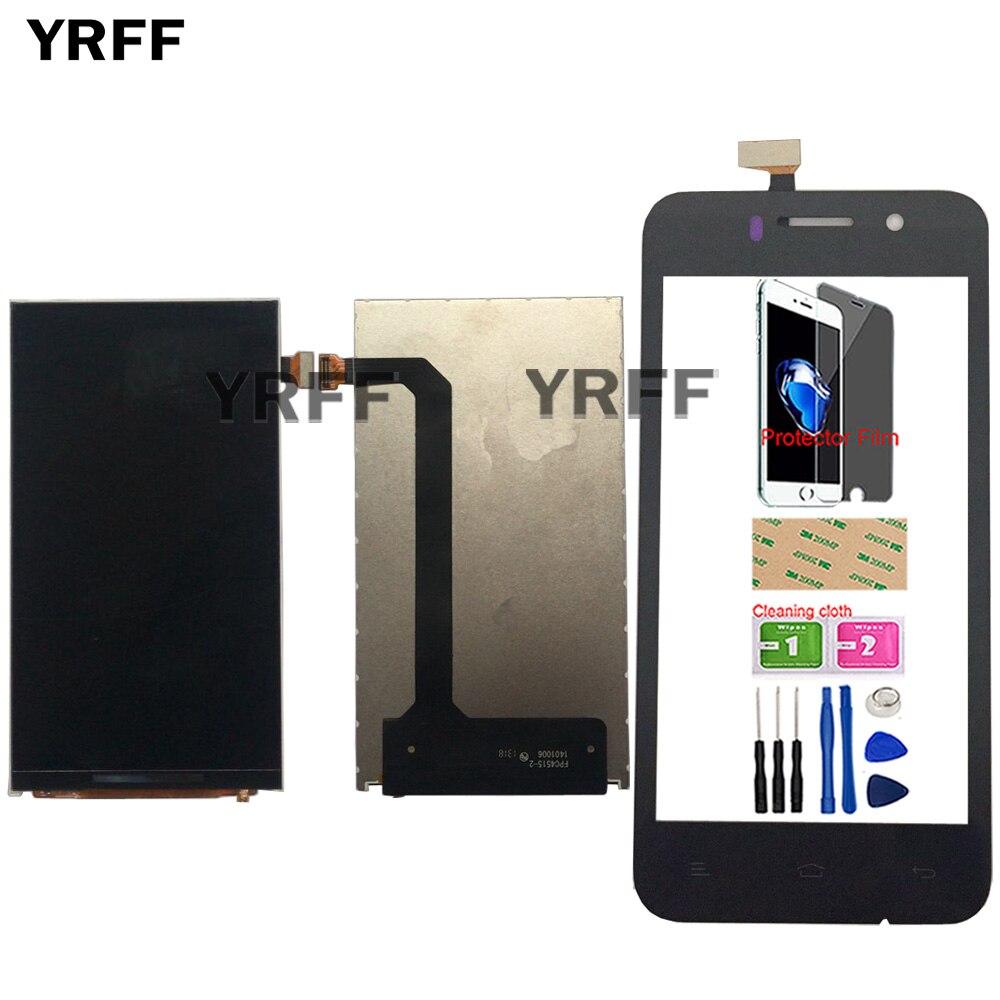 Pantalla LCD móvil 4,5 para pantalla Lcd Fly IQ446 pantalla táctil de cristal Panel digitalizador lente Sensor pantalla táctil herramientas película protectora