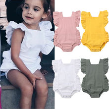 Emmababy Newborn Infant Baby Girl Boy Ruffle Sleeveless Romper Jumpsuit Outfits Sunsuit