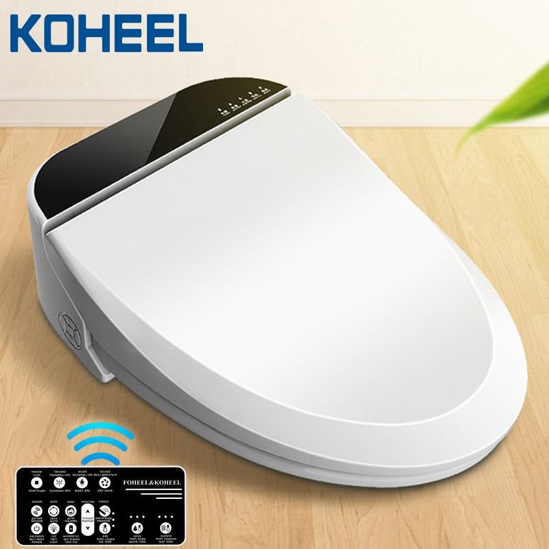 KOHEEL asiento de inodoro inteligente asiento de inodoro bidé tapa de inodoro eléctrico asiento de calor led Luz integrada Silla de niños inteligente