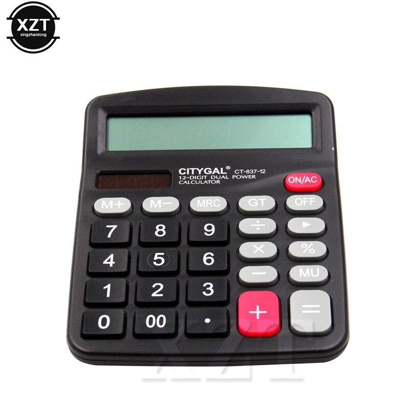 Alta qualidade 1 pçs portátil 12 dígitos grande tela calculadora computador moda contabilidade financeira acessório