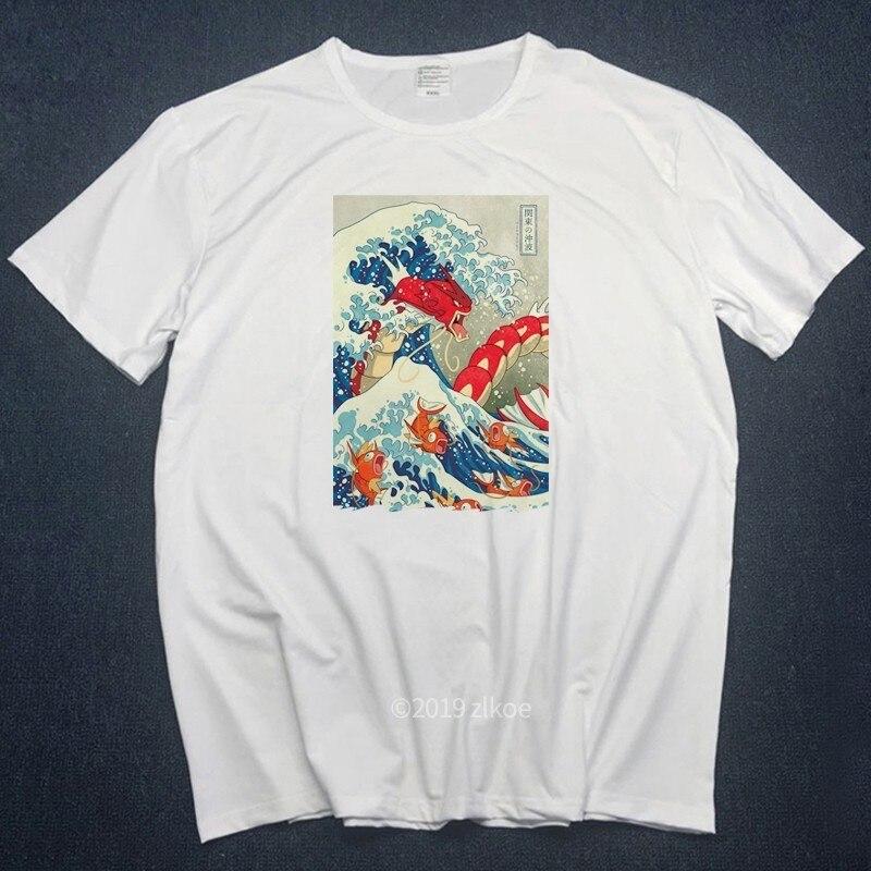Novo designer t camisa masculina a grande onda de inglês bulldog camiseta para o homem fora branco camisetas mulher 2019 mais curto streetwear