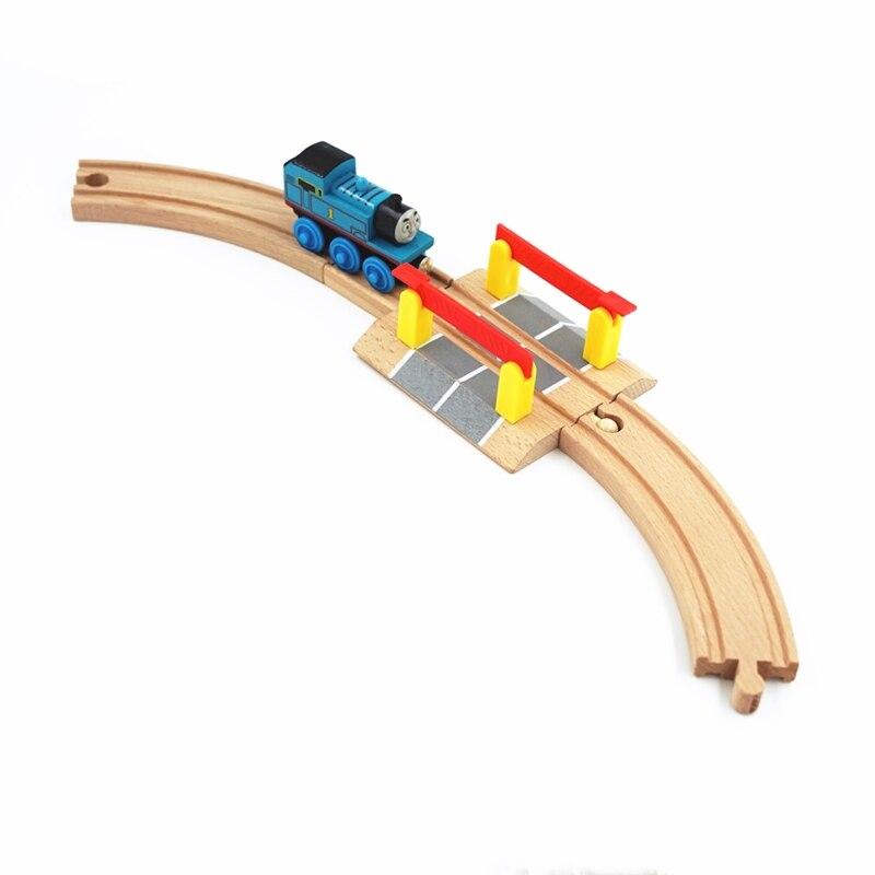 Аксессуары для деревянных рельсов, аксессуары для рельсовых дорожек, совместимые со всеми дорожками, Обучающие игрушки, аксессуары для железных дорог