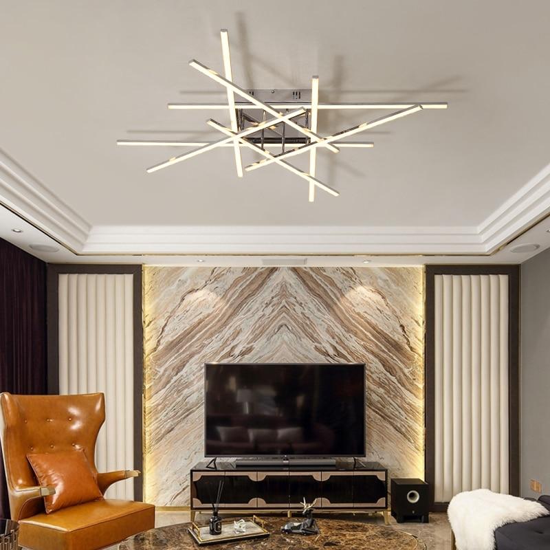 Nuevo estilo de arañas LED moderno AC110V 220V para sala de estar, dormitorio, comedor, Lustres Led, lámpara de iluminación de techo, accesorio