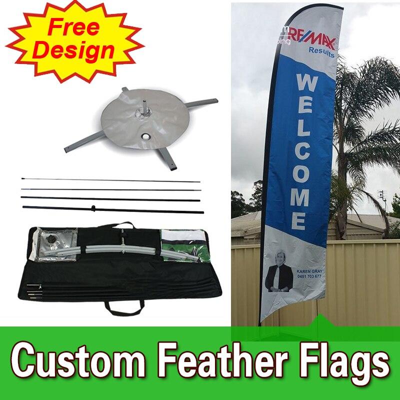 Banderines de plumas de doble cara con base cruzada, barato personalizado, diseño gratuito envío gratis, banderas de plumas de Casa Abierta