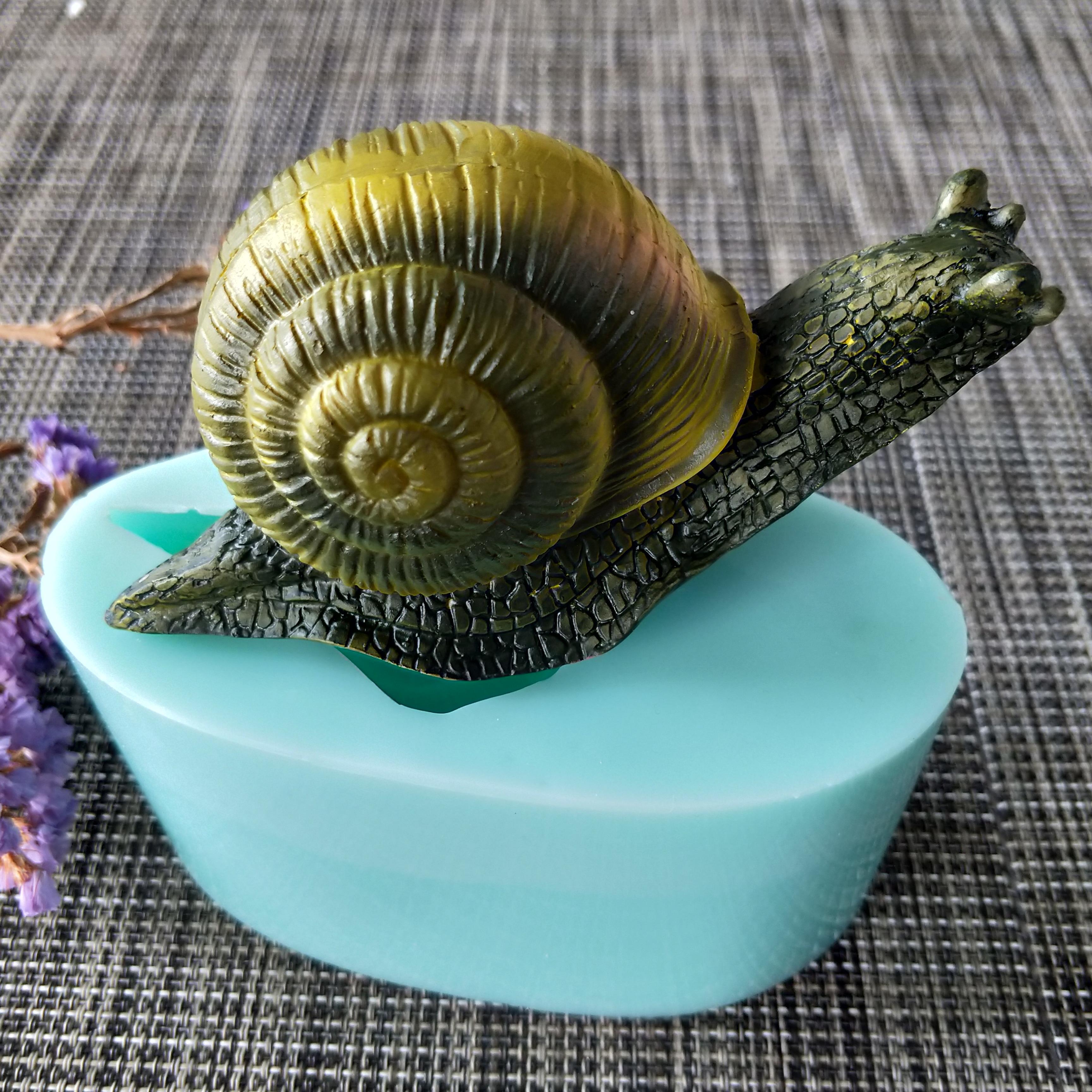 Animales caracoles silicona molde jabón hecho a mano con molde hacer moldes vela silicona molde resina arcilla molde DW0141 PRZY 3D