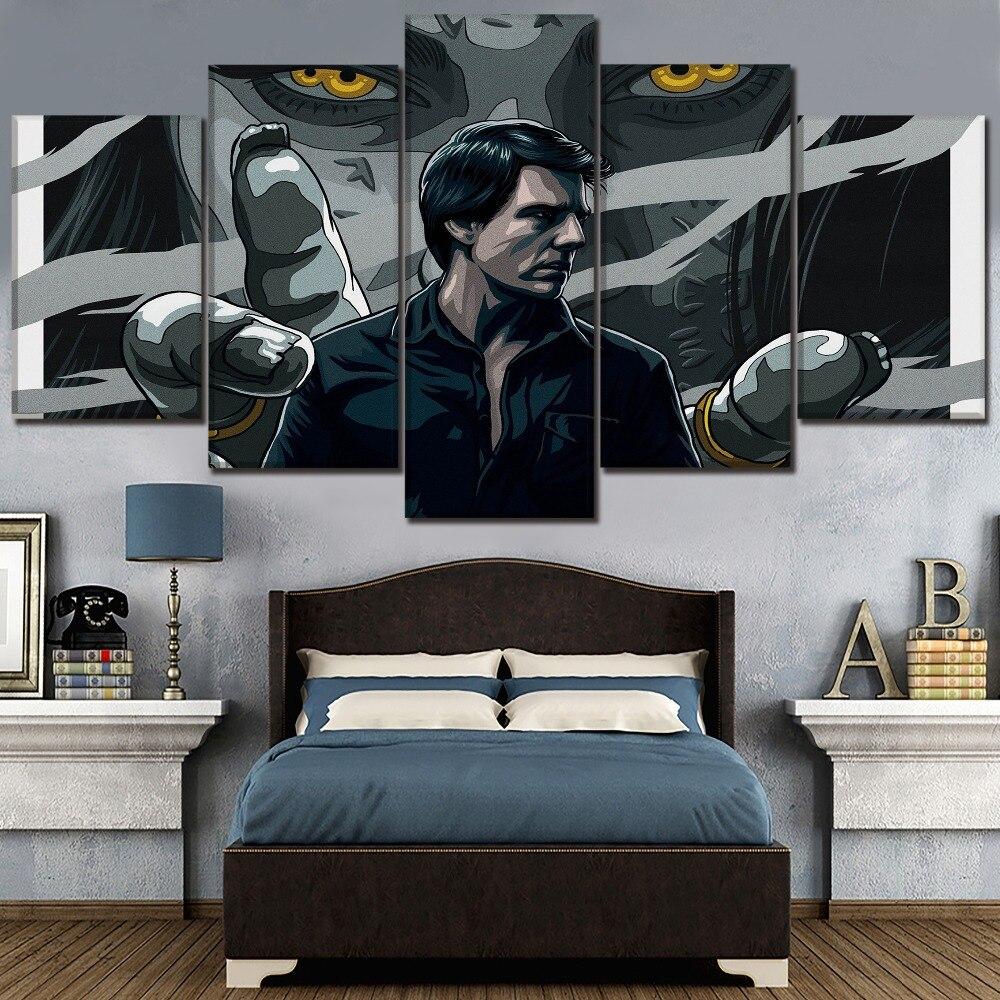 Pintura de lona de alta calidad Arte de la pared moderno impresión tipo imagen 5 piezas película La momia Tom crucero cartel decoración del hogar marco