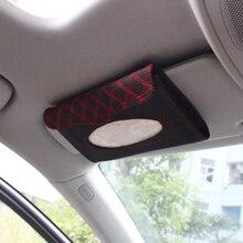 Caixa de tecido viseira do carro acessórios do carro do plutônio viseira de sol tipo pendurado bordado padrão capa de tecido em estilo do carro
