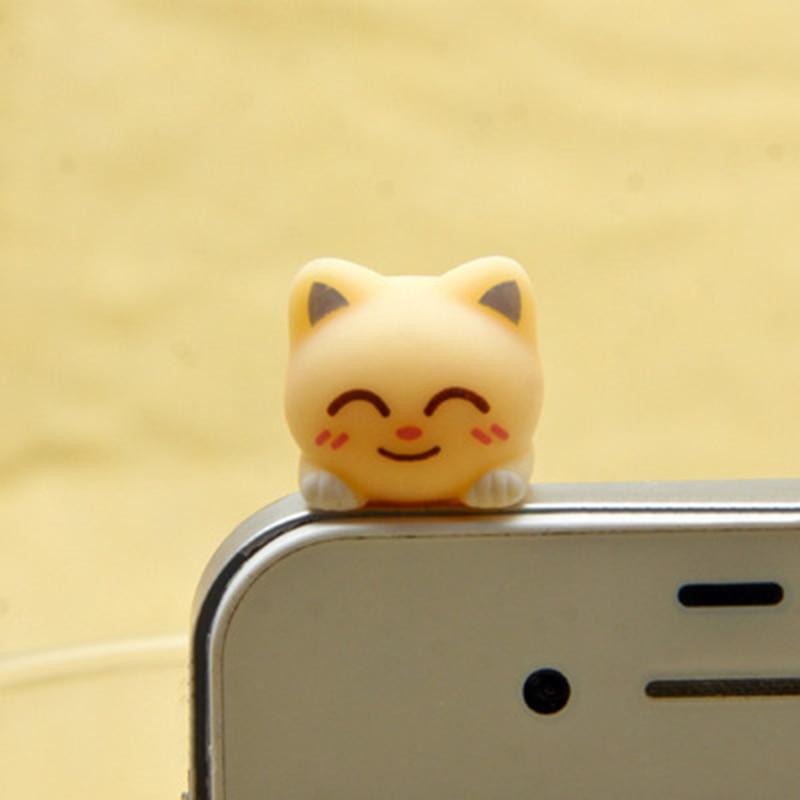 CatXaa 3,5 мм Пылезащитная заглушка для наушников 3,5 разъем порт музыка аудио Cat Kitty модель Пробка Для Huawei OPPO VIVO Meizu HTC-5