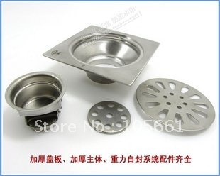 Bathroom accessories Stainless steel circular floor drain/Bathroom floor drain