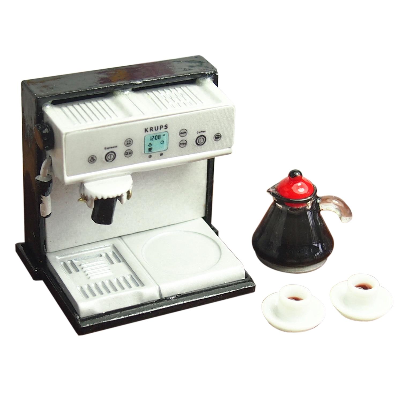 FBIL-Dollhouse миниатюрная кухонная металлическая кофемашина Expresso с кофе