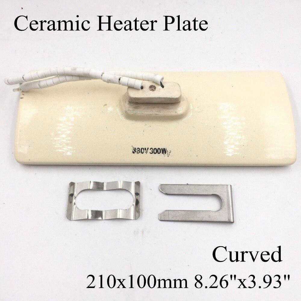 Placa calefactora de cerámica curvada infrarrojo ir blanco de 220 V, 210x100mm, estación de aire para placa calefactora BGA, molde de Metal, calentador PTC