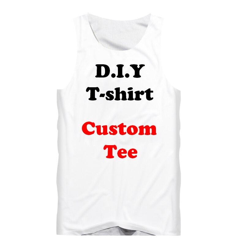Impresión 3D Diy diseño personalizado de moda hombres camiseta Top camiseta interior fitness mujeres Sexy chaleco Drop Shipper mayoristas para Drop Shipper