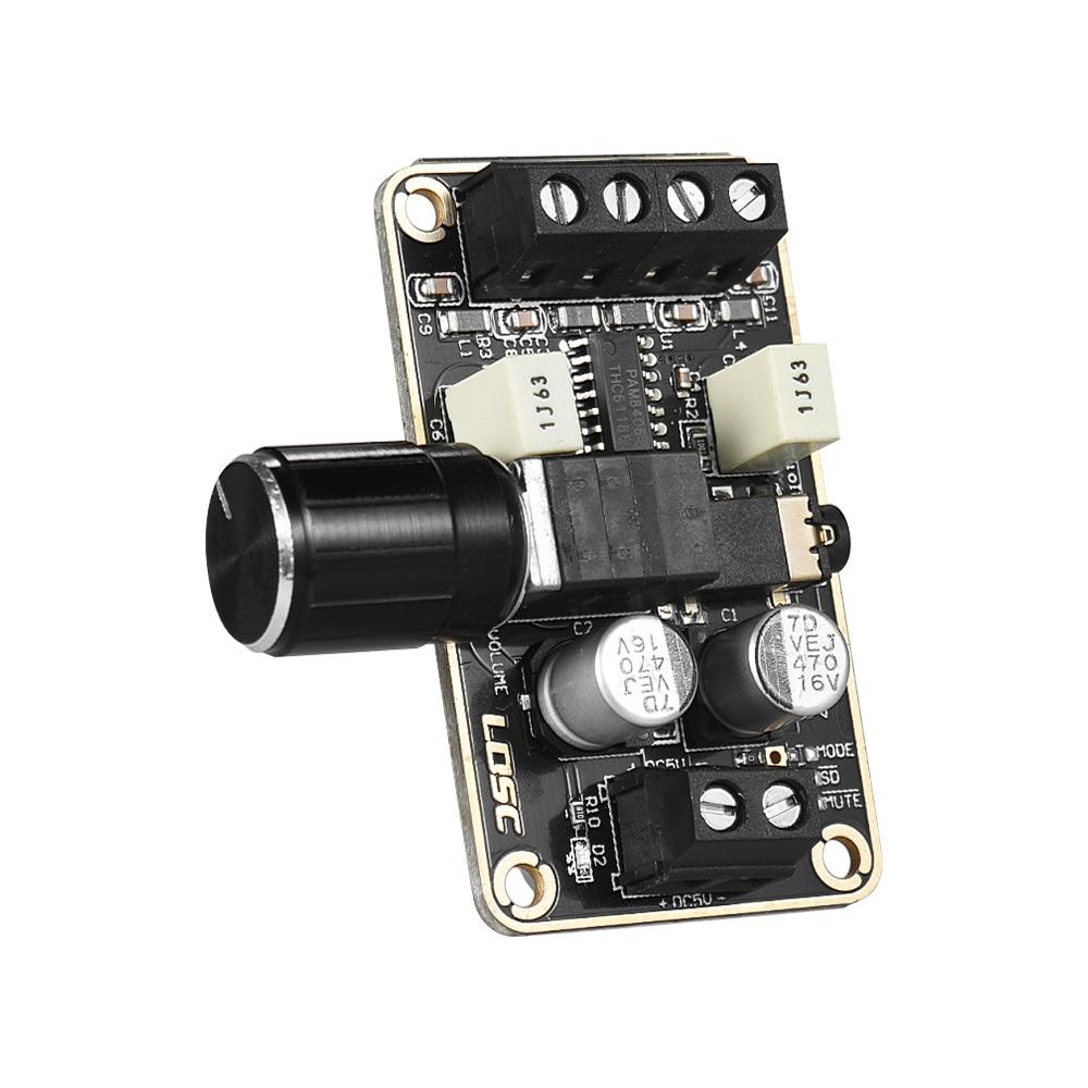 Digital Audio Amplifier Module 5W + 5W Dual-channel Stereo Mini Amp Board Amplify DIY Circuit Board for Bookshelf Floor