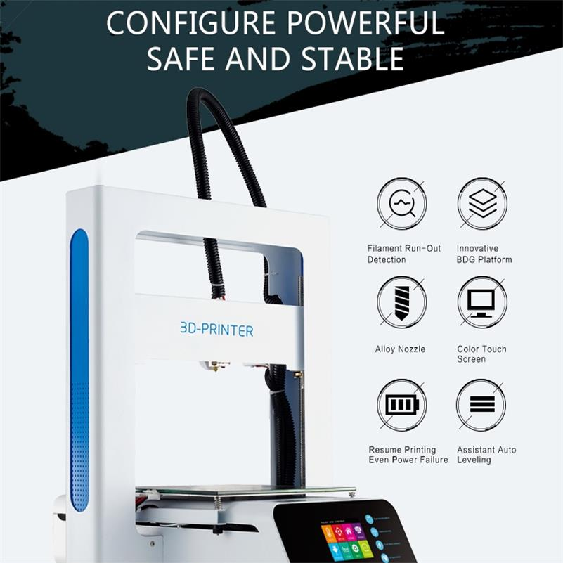 Impressora 3d updated prusa rampas com grande tamanho de construção, enviar da fábrica diretamente
