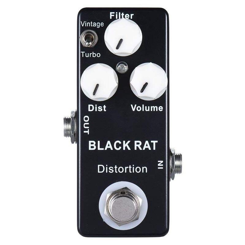 Pedal de efecto guitarra Mosky Black RAT, distorsión, Mini