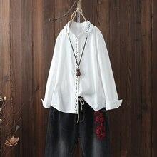 Haut pour femme été 2019 blouse orientale printemps style chinois chemise paysanne femmes hauts et chemisiers streetwear japonais AA4696