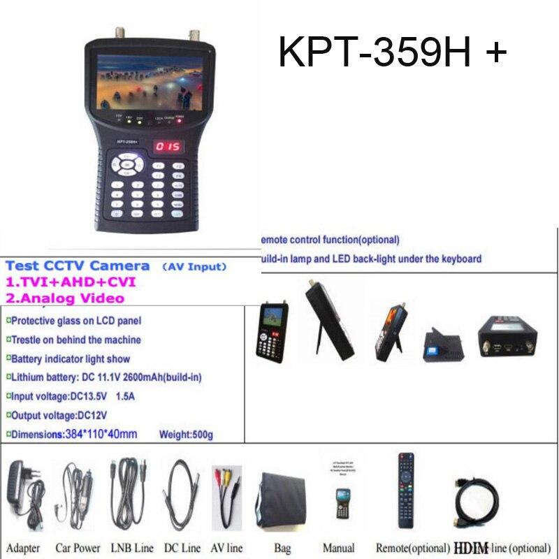 KPT-359H + 3.5 Polegada handheld multi localizador de satélite & monitor & ahd KPT-359H + KPT-968G