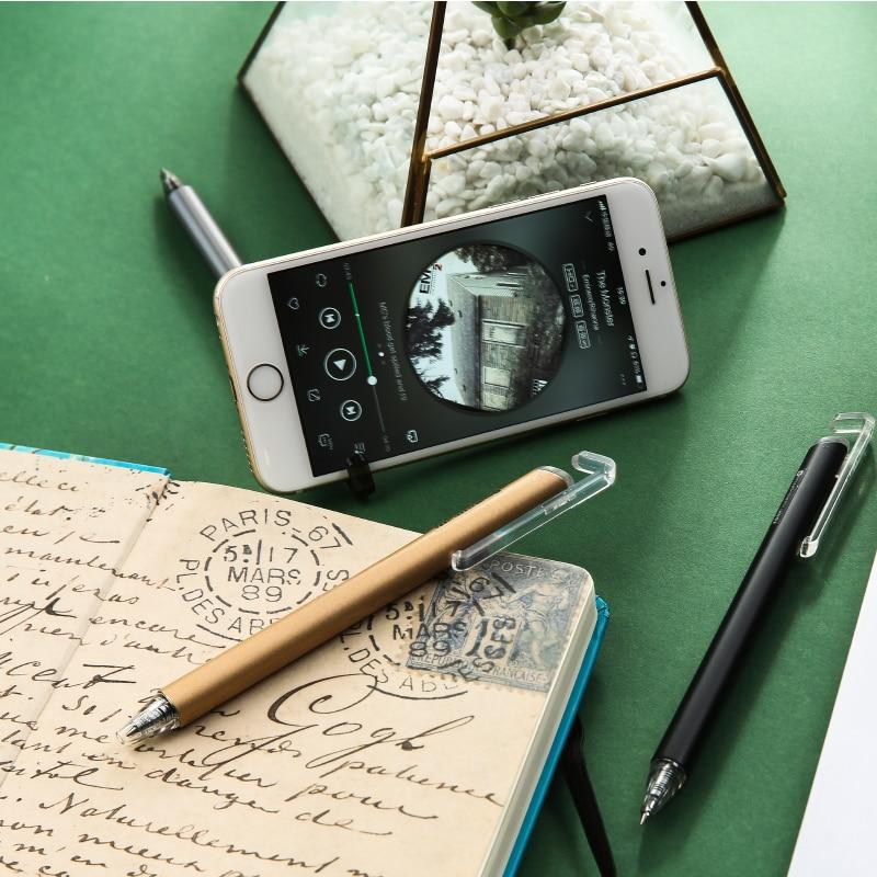 Bolígrafo de Gel de soporte retráctil de teléfono M & G de 0,5mm, bolígrafos de Gel, bolígrafo de tinta azul, negro rojo, suministros escolares de oficina, papelería, bolígrafo