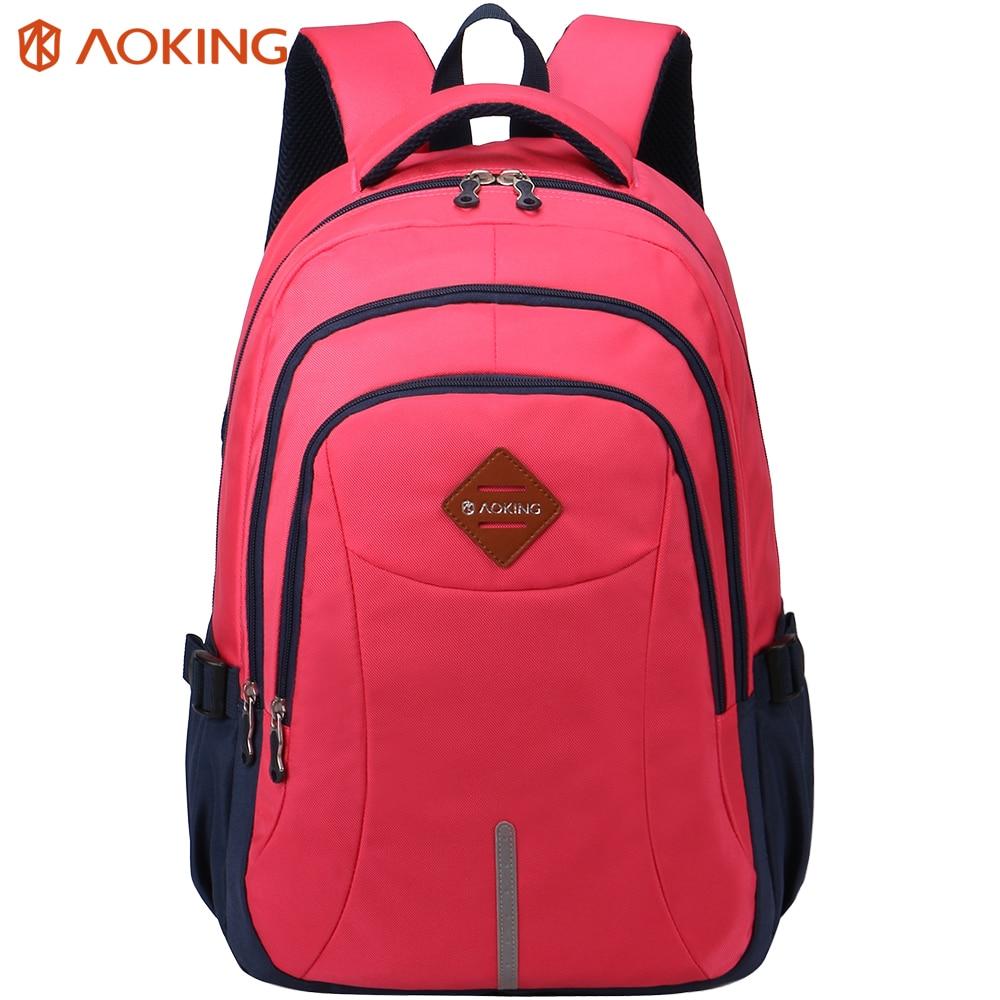Aoking-حقيبة ظهر للكمبيوتر المحمول بلون الحلوى للرجال والنساء ، حقيبة ظهر للكمبيوتر المحمول ، حقيبة مدرسية للمراهقين