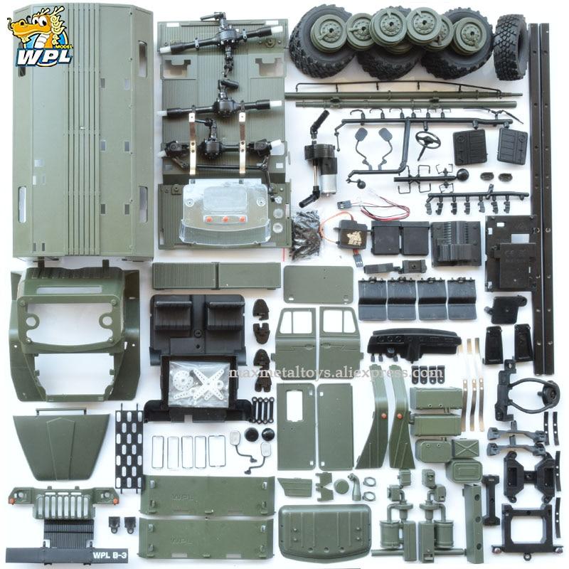 WPL B36 1:16 Ural RC Car 6WD Military Truck Rock Crawler Command Communication Vehicle KIT Toy Carrinho de controle