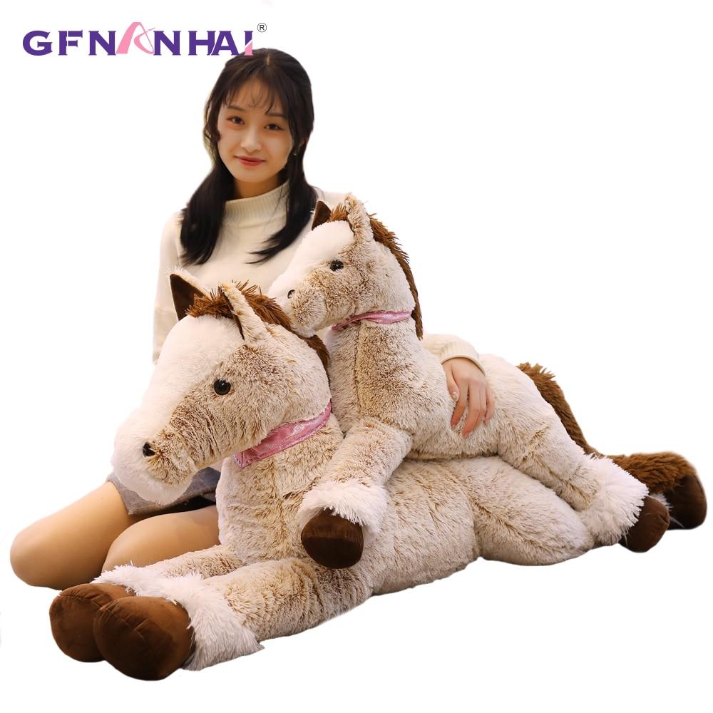 Nouveau géant Simulation cheval en peluche jouets en peluche doux mignon Animal poupée belle licorne Style jouets bébé anniversaire décor à la maison cadeau