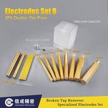 2 ensembles Électrodes Ensemble pour EDM-8C SFX-4000B Portable EDM robinets cassés décapant machine