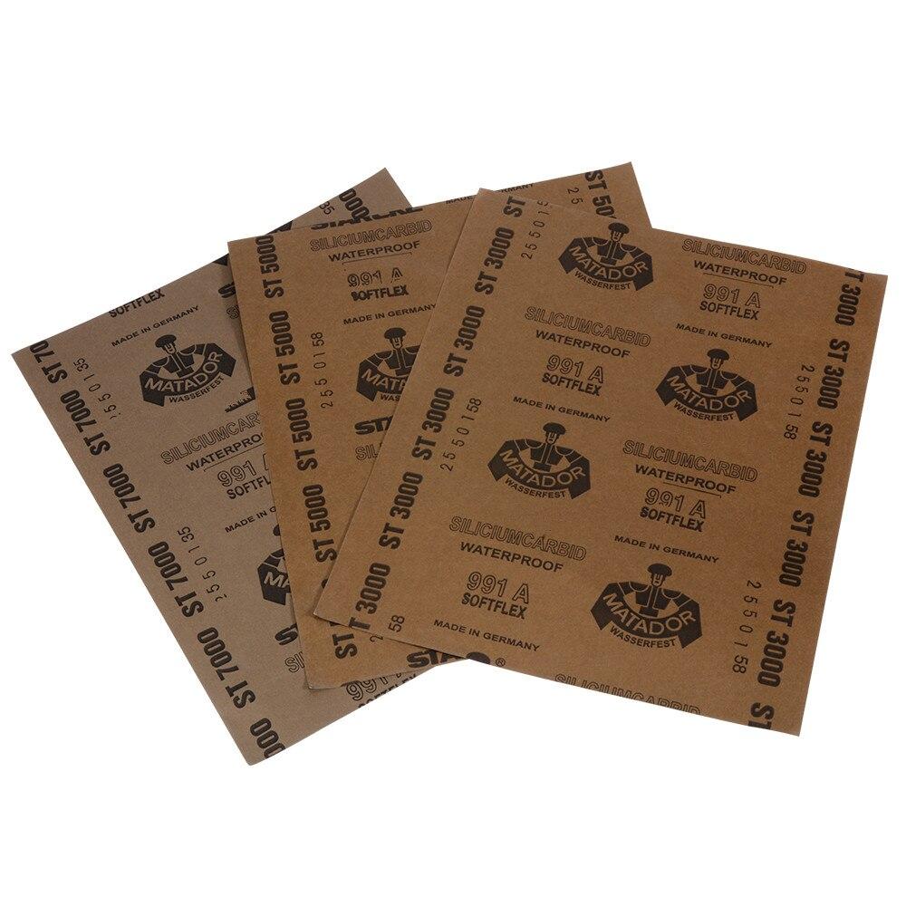 Зернистость 3000 5000 7000 наждачная бумага для влажных и сухих работ, полировка абразивных водостойких бумажных листов HT171-173