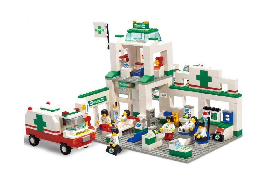 Nuevo Modelo de Juguetes de bloques de construcción de centro de emergencia para hospitales de ciudad para niños Compatible con bloques de figuras de Doctor Nurse
