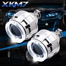 Upgrade HID Projektor Objektiv Bixenon Scheinwerfer LED Angel Eyes Halo H1 H4 H7 2,5 zoll Auto Zubehör Retrofit Laufende Lichter kit