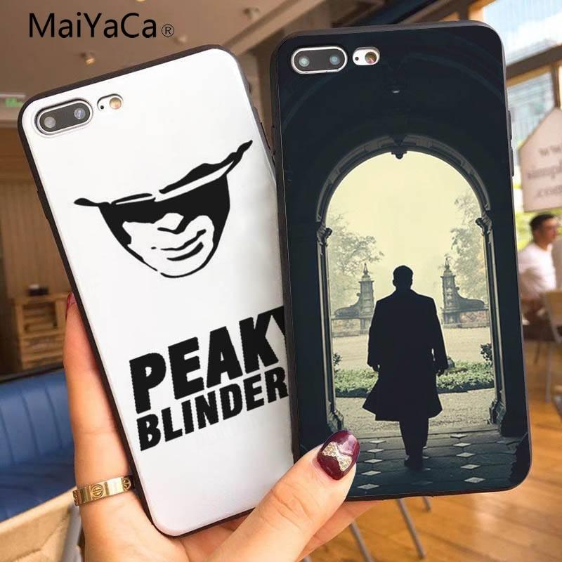 Maiyaca tommy shelby coque escudo caso de telefone para apple iphone x xs xr xsmax 5 5S se e 6s 7 mais 8 8 mais caso de telefone capa
