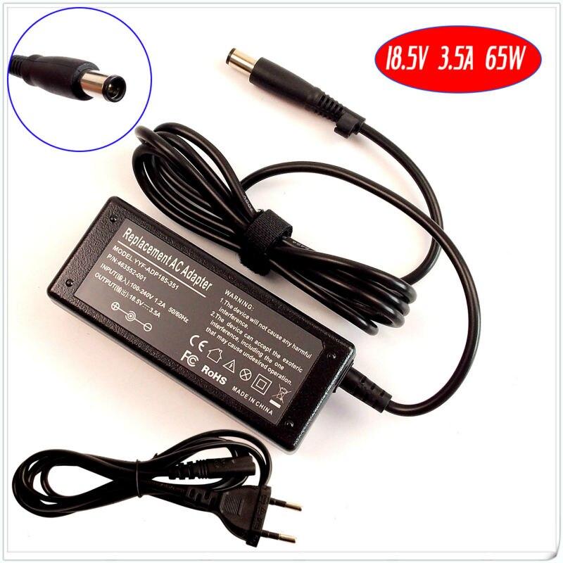 18,5 V 3.5A 65W Ac adaptador cargador portátil para HP G70-481 G70-481NR DV7-1060EP G62-144DX G70-457CA G70-460US DV4-1283 DV4-1280US