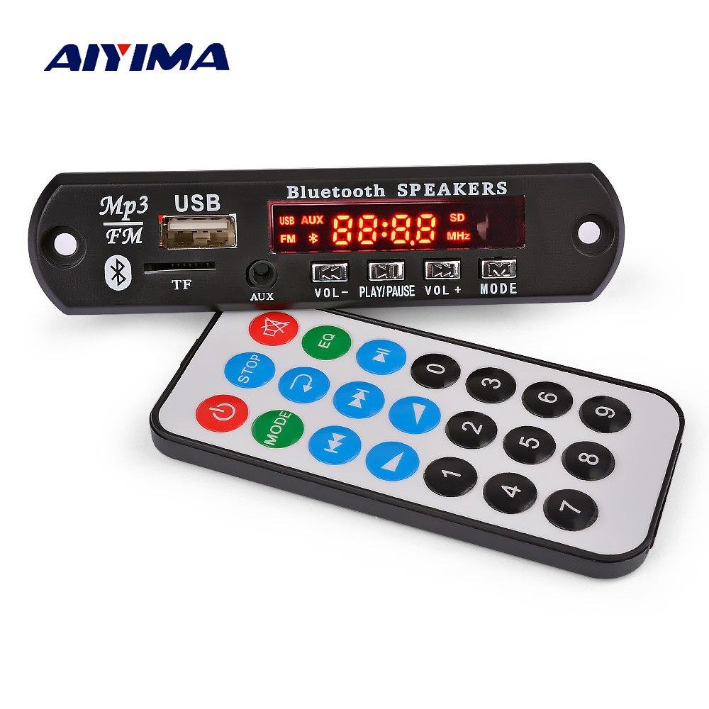 AIYIMA Bluetooth усилитель плата 15Wx2 MP3 декодер плата Bluetooth 5,0 приемник WAV APE FLAC аудио декодирование USB TF FM AUX
