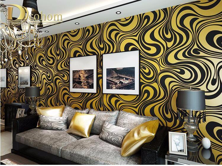 Wysokiej jakości 0.7 m * 8.4 m nowoczesny luksus 3d tapety rolki mural papel de parede uciekają na paski ściany papier 5 kolor r136 32