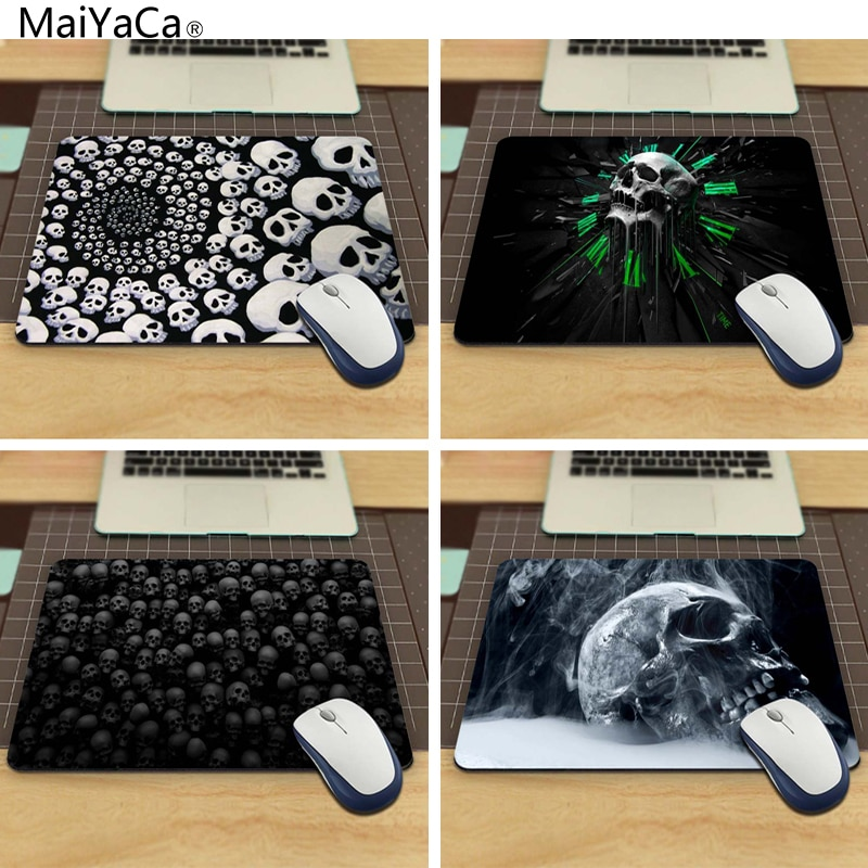 MaiYaCa Custom High Speed Skulls Vintage Stylish Mouse Pad aming Rectangle Mousepad 220mmX180mm and 250mmx290mm custom original night and cat nature series mouse pad