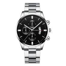 Best Selling Fashion Watch Men Military Stainless Steel Analog Date Sport Quartz Wrist Watch Reloj de hombre free shipping Wd4