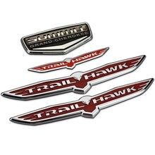 SUMMIT Grand Cherokee Shield Trail Hawk Chrome Plastic Car Styling Emblem Badge 3D Sticker Auto Exterior Decor Decal for JEEP