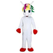 Unicorn mascot costume Flying Horse Mascot Costume Rainbow pony fancy dress costume for adult animal Halloween party