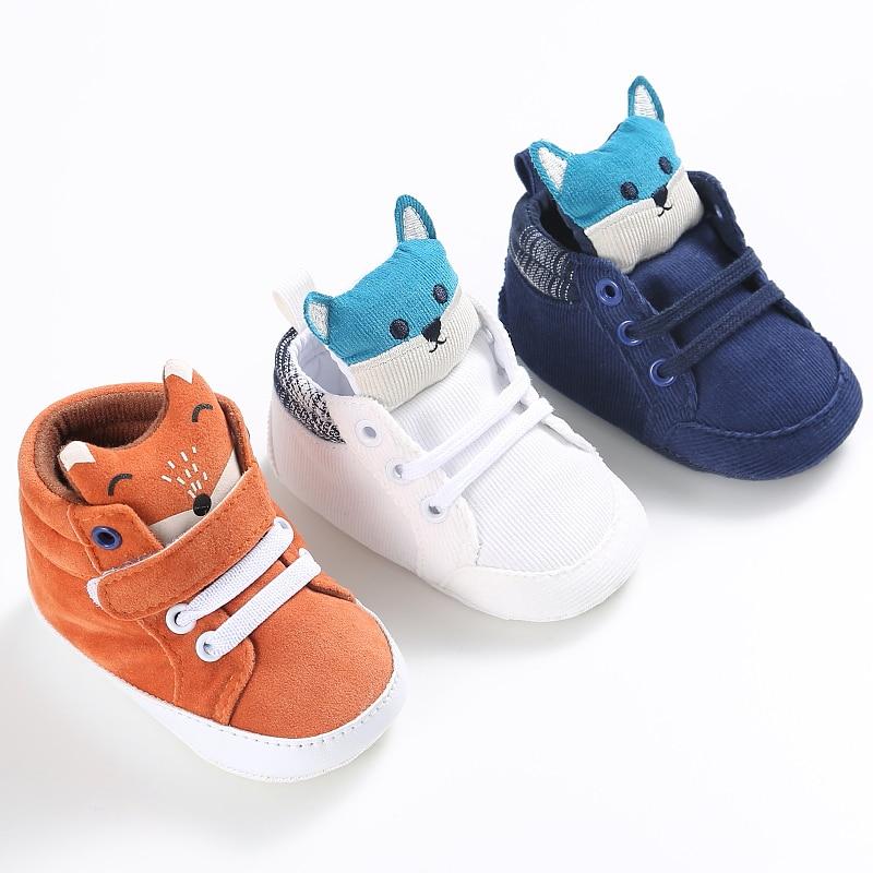 Cartoon Blue Baby Sport Sneakers Branded Blue Boy Boots Newborn Chaussure Girls Casual Booties Soft