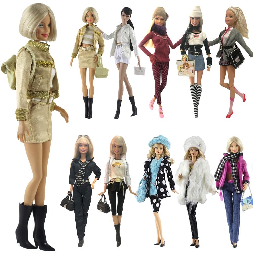 Conjunto de ropa de muñeca NK, uniformes de moda, ropa de invierno, supermodelo, abrigo para muñeca Barbie, accesorios, regalo para niñas, juguetes A1 JJ
