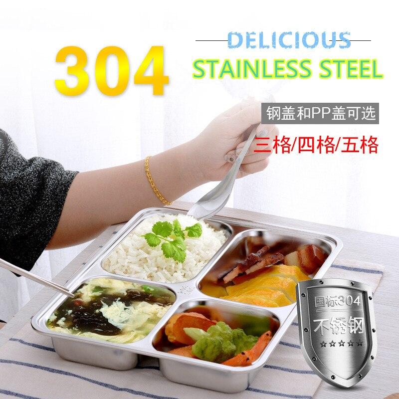 Moda Caixa De Almoço Bento Recipiente para Comida de Microondas Utensílios de Mesa de Aço Inoxidável Caixa De Almoço De Armazenamento para as pessoas Picnic escola
