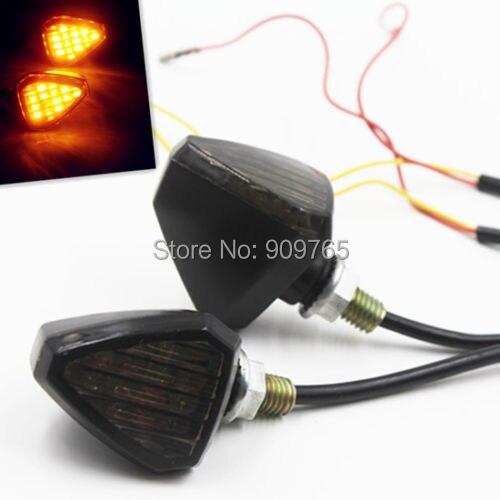 Universal luz LED de intermitente indicador Dual deporte de la motocicleta de la bici de la suciedad MINI calle Dual DR500 DR650S DR650SE DRZ110