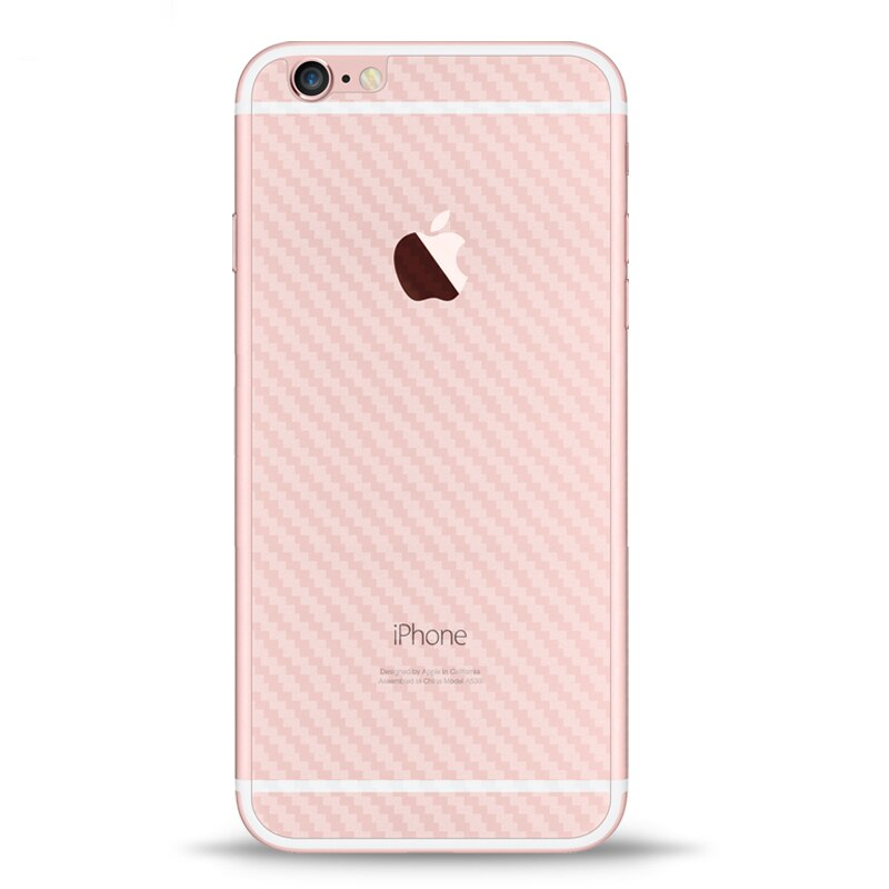 2Pcs Rear cover Protector Guard 3D Carbon Fiber Back Cover Protective Film for iPhone 6 6s iPhone 6s
