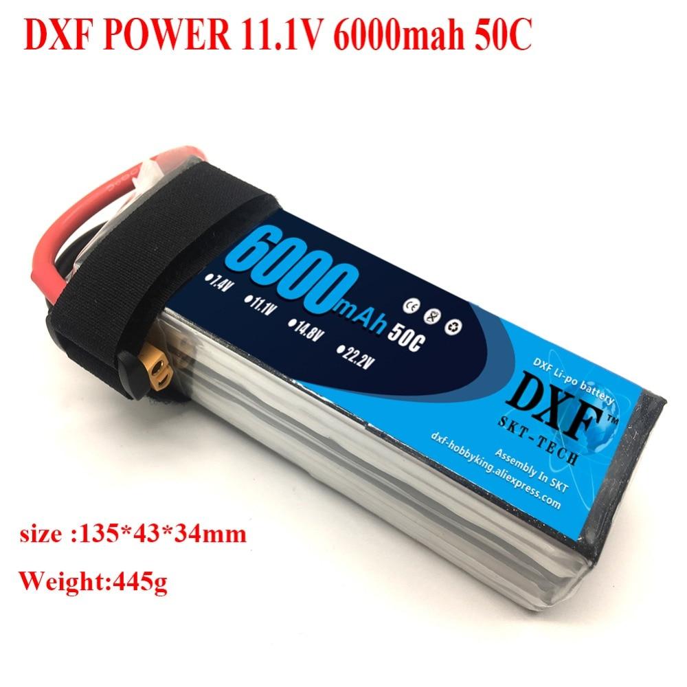 DXF batería Lipo 3S 6000mAh 11,1 V paquete 50C para TRX X-MAXX UNLIMITDE E-REVO TR-4