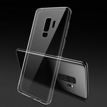 Transparent étui pour samsung S9 Plus étui pour samsung Galaxy S7 Bord S8 Note 9 A5 A7 A3 J5 2017 J6 J4 A6 2018 Doux TPU Couvre