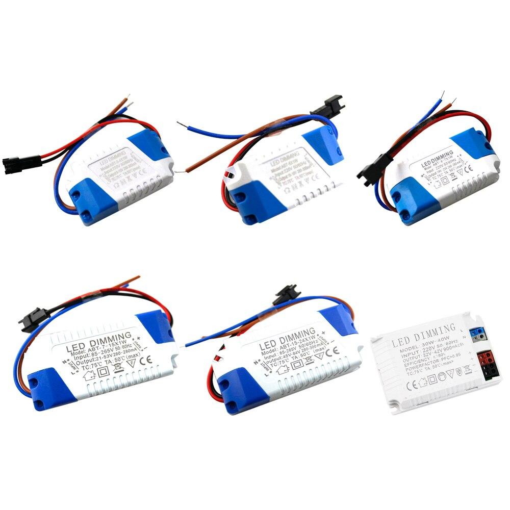 Fuente de alimentación regulable para conductor LED, adaptador de 300MA para lámpara LED AC85-265V JQ de CA, 110V, 220V a CC, 12V y 24V