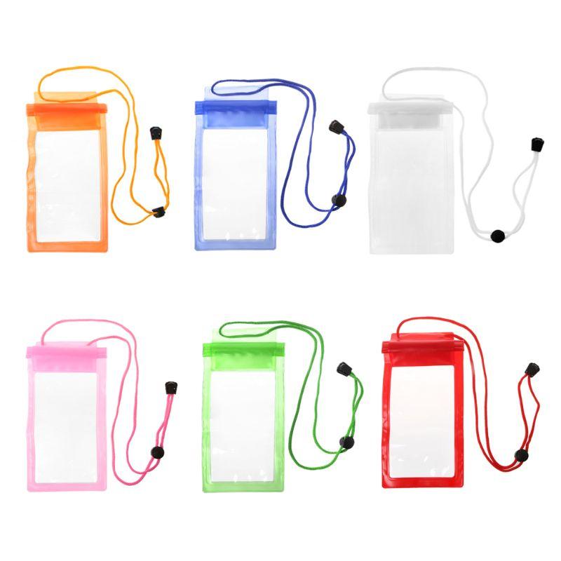 Fuerte 3 capas de sellado bolsas de natación impermeable bolsa de teléfono inteligente bolsas de buceo funda de bolsillo para Samsung Xiaomi HTC
