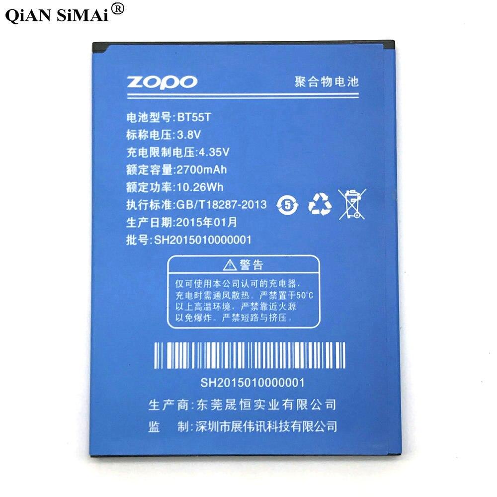 Nueva batería de alta calidad BT55T 2700 mAh para ZOPO ZP998 ZP999 ZP3X ZP9520 ZP9530