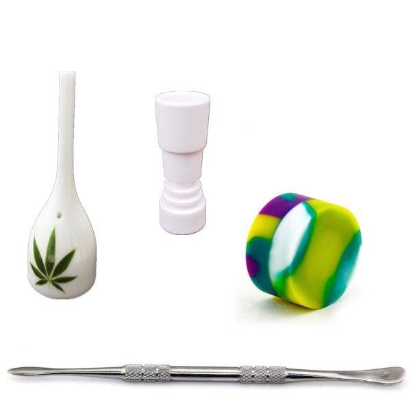2016 Venta al por mayor de alta calidad tapa de cerámica 14,4mm 18,8mm uñas de cerámica femeninas vs titanio Banger Uña de cuarzo uña